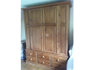 Large Pine Double Wardrobe in Balham for Sale
