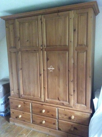 large-pine-double-wardrobe-in-balham-for-sale-big-0